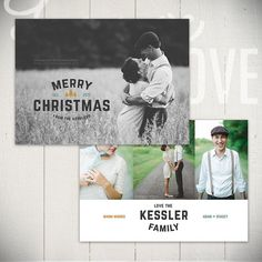 Christmas Card Template: Holiday Classic A - 5x7 Holiday Card Template for Photographers
