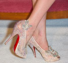 """Christian Louboutin glass slipper (2012)Louboutin, a man who """"hates the concept of comfort"""" and once said he designed high heels with men in mind, was responsible for this monstrosity of lace, glitter and butterflies. Let's re-christen this Cinderella slipper the Deal (and possibly ankle) Breaker. If a man wants you to channel a fairytale character via your feet, take off those heels and run for you life. If your lady thinks butterflies are an appropriate adornment for shoes, you are…"""