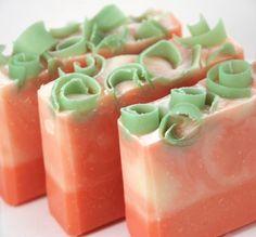 White Peach Soap Handmade Cold Process, Vegan Friendly