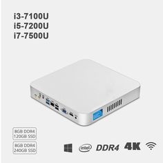 Mini PC Intel Core i7 7500U i5 7200U i3 7100U 8GB DDR4 240GB SSD 4K 300M WiFi HDMI VGA 6*USB Gigabit Ethernet Windows 10 Linux  Price: 271.99 & FREE Shipping #computers #shopping #electronics #home #garden #LED #mobiles #rc #security #toys #bargain #coolstuff |#headphones #bluetooth #gifts #xmas #happybirthday #fun