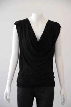 JAG  Women s Sleeveless Cowl Neck Top With Zipped Shoulders EUC {Size S / 10}