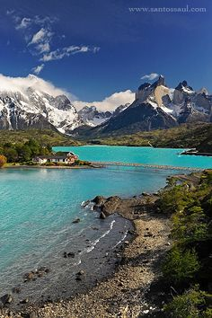 Laguna Peohe in Torres del Paine National Park- Patagonia, Chile South America Destinations, South America Travel, Places To Travel, Places To See, Travel Destinations, Places Around The World, Around The Worlds, Destination Voyage, Dream Vacations