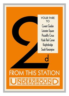 London Underground Fare Poster Vintage Print  by customthings, $12.95
