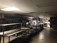 Kitchen. Has 4 industrial refrigerators, walk in freezer, large ice machine (free for us), and 2 large warming racks