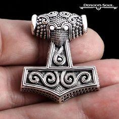 Wikinger Ring Drachen Köpfe Gold Vikings Odin Wotan Runes Dragon heads