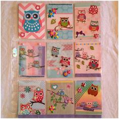 Mein sechster selbstgemachter Pocket Letter Colorful Owls #filofax #filofaxing #hellokitty #scrapbook #scrapbooking #smashbook #smashbooking #projectlifecards #pocketletter #letterpocket #diy #journalcards #doityourself