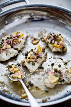 roasted cod with lemon and caper relish