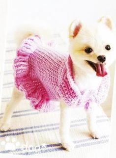 Платье для собаки крючком