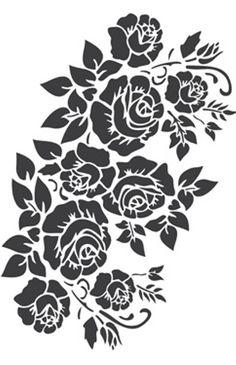 (99) Одноклассники Stencils, Stencil Templates, Stencil Patterns, Stencil Designs, Folk Embroidery, Hand Embroidery Designs, Embroidery Patterns, Flower Silhouette, Silhouette Art