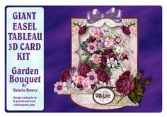 Giant Easel Tableau 3D Card Kit - Garden Bouquet