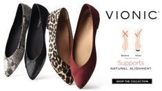 Vionic flats with arch support
