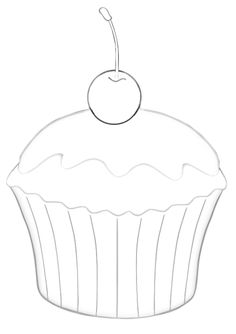 image relating to Cupcake Template Printable referred to as 14 Least complicated Cupcake template shots Cupcake template