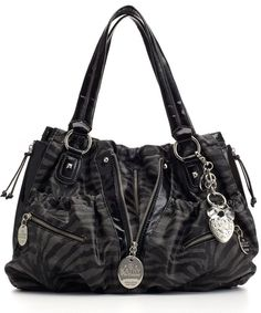 Kathy Van Zeeland--zipper shopper bag is nearly impossible to buy now in plain black...