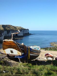 Fishing boat, Flamborough Head, East Yorkshire … – Now YOU Can Build Your Dream Boat With Over 500 Boat Plans! East Yorkshire, Yorkshire England, Scenic Photography, Night Photography, Landscape Photography, England And Scotland, Boat Plans, British Isles, Great View