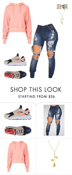 """Untitled #575"" by dessy1112 ❤ liked on Polyvore featuring NIKE and RE/DONE"
