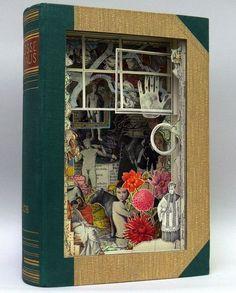 book Art | Cut book art by Alexander Korzer-Robinson | Bunte Momente
