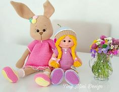 TonTon Doll and Tilda Bunny Free English Pattern - Tiny Mini Design