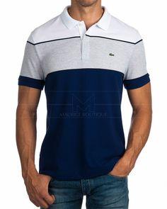 Polos Lacoste ® Sport - Azul Marino & Perla | ENVIO GRATIS Mens Polo T Shirts, Printed Polo Shirts, Golf Shirts, Boys T Shirts, Mens Tees, Camisa Polo, Stylish Shirts, Casual Shirts, Polos Lacoste
