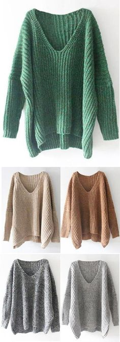 Give It You Best Knitting Casual Sweater