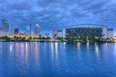 The Tampa Bay Times Forum with downtown Tampa in the background.  Photography by Photomatt28, via Flickr