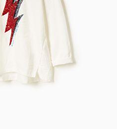 ZARA - ENFANTS - T-shirt à éclair brillant