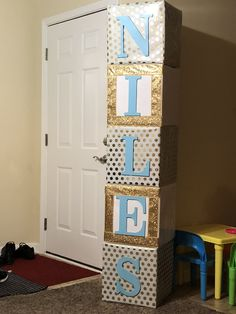 Baby shower blocks!