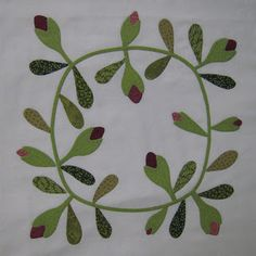 I know you all must think all I do is applique and for the most part you are right. This is my block three. Those dreaded fingers. Cherry Tree, Applique Quilts, Needle And Thread, Fun Projects, 9 And 10, Quilt Patterns, Plant Leaves, Embroidery, Trees