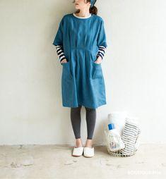 ドルマンスリーブの割烹着の型紙・パターン(実物大) | ぬくもり