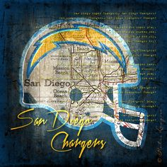 A perfect gift for your diehard San Diego Chargers fan, proudly display this retro San Diego map that features the Chargers fight song lyrics and