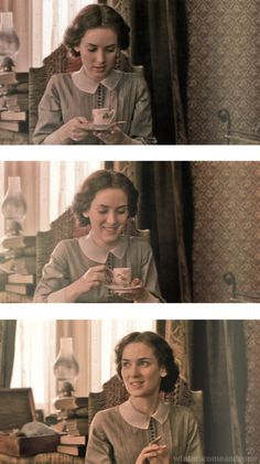 """This is one of my favorite scenes.  The way she sips the """"strong"""" coffee, the look on her face when she sips it, just the whole conversations is so good."""