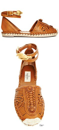 ~Valentino SS 2014, Woven Espadrille | The House of Beccaria