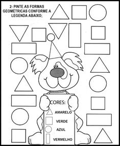 Crafts,Actvities and Worksheets for Preschool,Toddler and Kindergarten.Free printables and activity pages for free.Lots of worksheets and coloring pages. Preschool Learning, Kindergarten Worksheets, In Kindergarten, Learning Activities, Preschool Activities, Shape Activities, Shape Worksheets For Preschool, Preschool Shapes, Shapes Worksheets