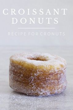 Flaky, buttery pastries tossed in sugar, filled with fluffy lavender cream and finished with a luscious lemon glaze. Donuts and croissants sitting Donut Recipes, Pastry Recipes, Baking Recipes, Just Desserts, Delicious Desserts, Dessert Recipes, Yummy Food, Croissant Donut Recipe, Churros
