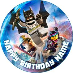 EDIBLE Lego Dimensions Wafer Cake Topper Birthday Party personalized round