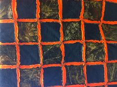 Mossy Oak Camoflauge Rag Quilt Hunters Orange by lisakemph on Etsy, $35.00