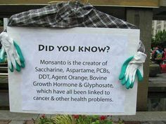 Dangerous Pesticides Showing Up More and More In Our Urine and Breast Milk. More here: http://www.cornucopia.org/2014/06/dangerous-pesticides-showing-urine-breast-milk........ Monsanto = Unacceptable to the planet + all life that dwells upon it!