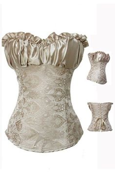 FREE SHIPPING Gold Princess Laceup Corset by blondiebeach on Etsy, $34.99