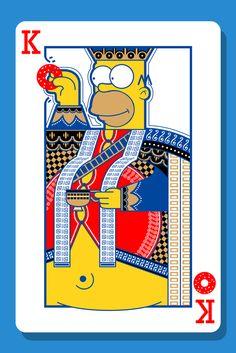the Simpsons card family-Charles A.P.  Escolhi esta carta pelo facto de o artista ter recorrido a personagens de um filme/serie para o seu desenho.