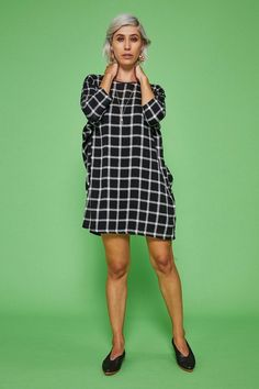 66b7f893819 Altar Grid Woven Batwing Dress. Made ClothingEthical ...