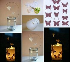 More jar candles combined with butterflies. WOW!