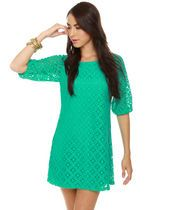Great-Laced Teal Lace Dress