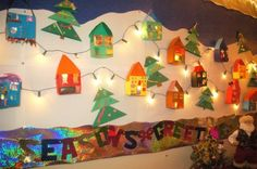 Winter and Christmas Student Craft Bulletin Board Idea