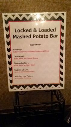 Great list of mashed potato bar combos and toppings ...