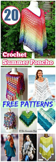 20 Free Crochet Summer Poncho Patterns for Women's - DIY & Crafts
