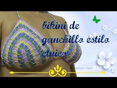 DIY:BIKINI DE GANCHILLO ESTILO ETNICO - YouTube