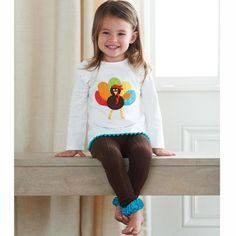 Mud Pie Baby Girls 2 Pc Thanksgiving Set Shirt Pants Turkey 111A048 Holiday New #FOLLOWITFINDIT