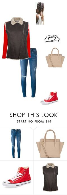 """""""Wrapping presents"""" by modest-flute ❤ liked on Polyvore featuring Frame Denim, Salvatore Ferragamo, Converse and Amuse Society"""