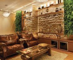 holz tapete für gemütliches ambiente moderne wohnzimmer deko ideen, Wohnzimmer
