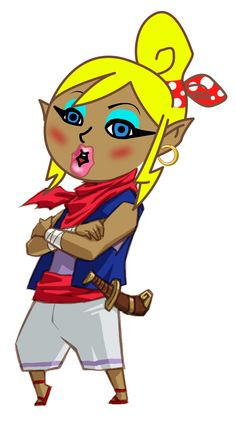 #CaptainTetra #Zelda from the #LegendofZelda #WindWaker if she would have grown up in the wrong neighborhood taken from #LordBarta latest LP
