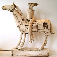 irocellophane:    Christy Keeney : Horse and Rider (Ceramic Sculpture)